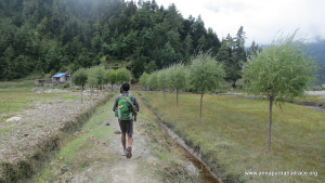 Following alternative trails, we stayed clear of roads and other trekkers.