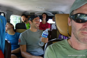 It is one long ride to Besisahar - but John knows how to make people laugh