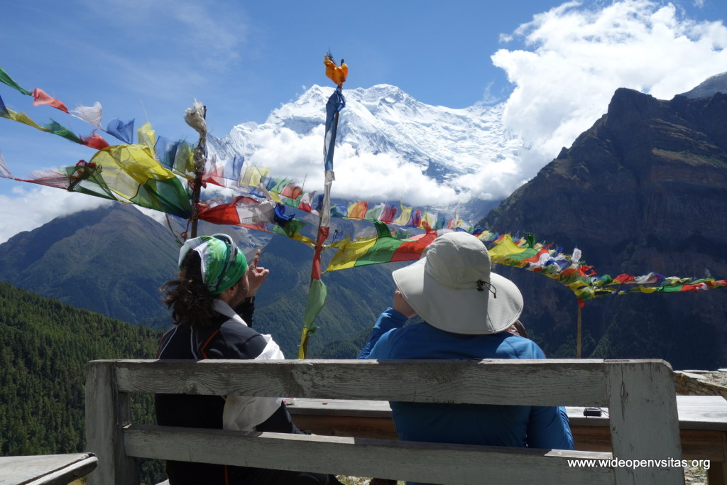 In Ghyaru - taking in Annapurna IV and III