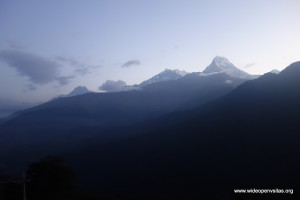 Final views from Poon Hill -Dhalaghuri and Annapurna I