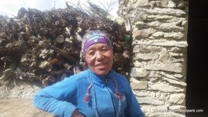 We buy Raksi (local moonshine) from this lady every year - above Manang - Day 7