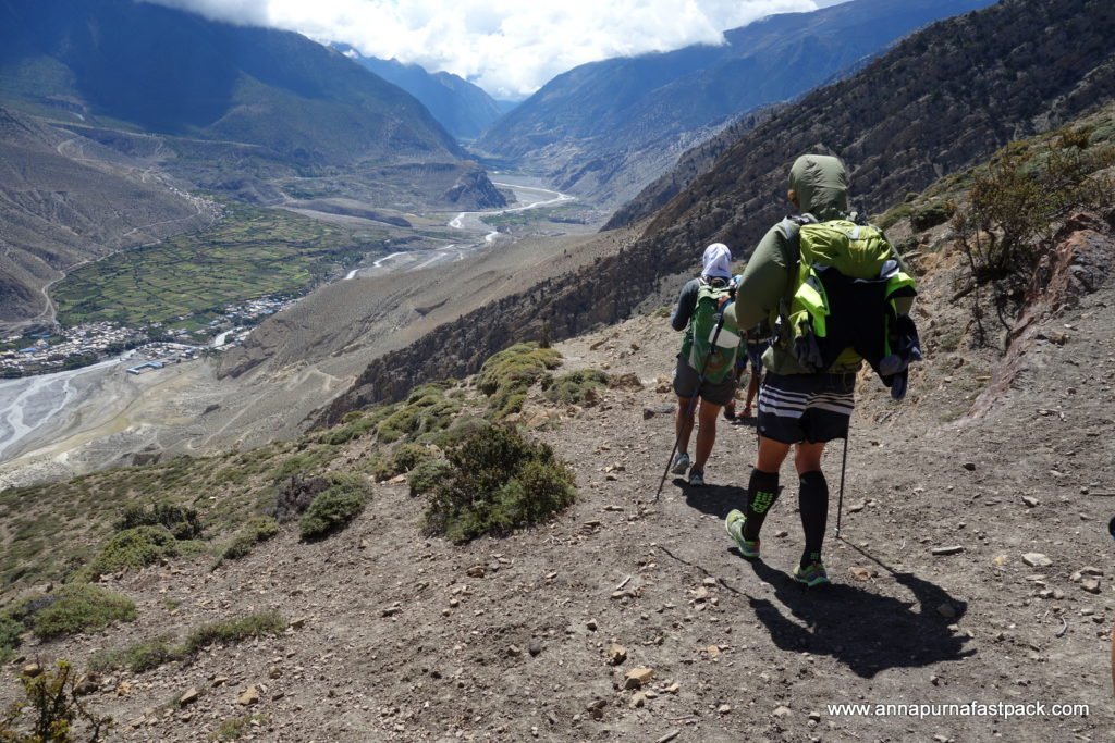 Why walk the jeep road to Jomsom when you can climb another pass and arrive in style?