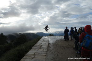 Something about the Himalayas make people jump for joy - Poon Hill - Ghorapani